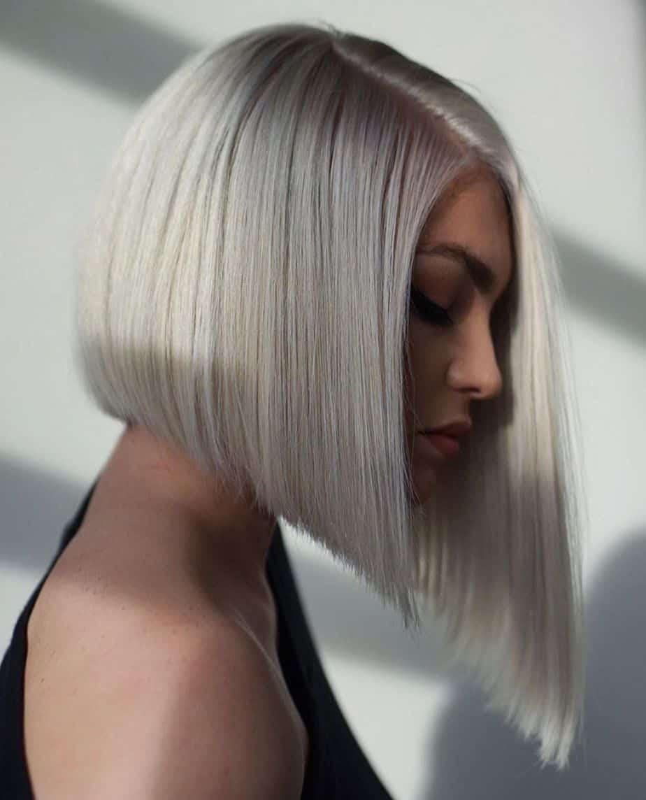 Asymmetrical Long Bob Haircut 2021 for Women