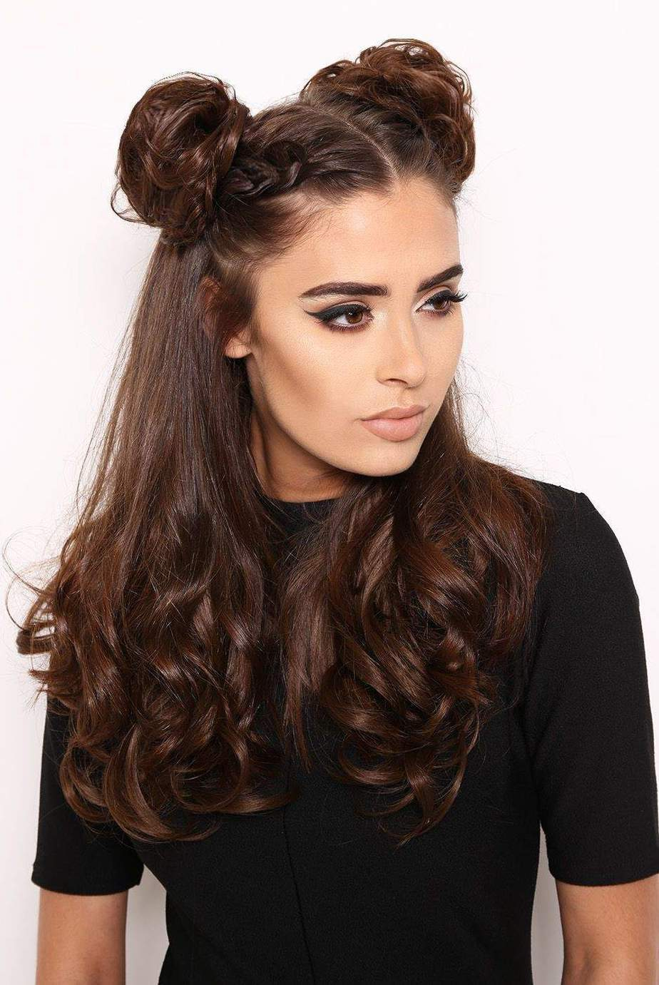Cute and Easy Long Hairstyles for 2021 Double Space Buns