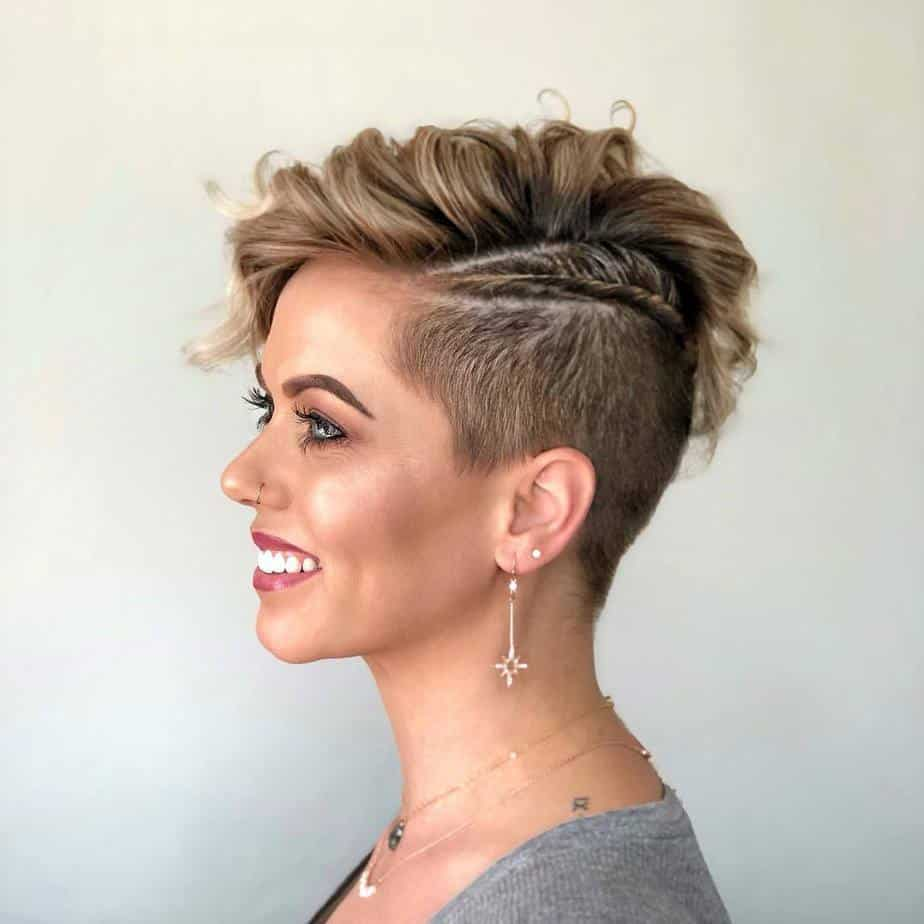 Edgy Shaved Undercut Pixie Hairstyle 2021