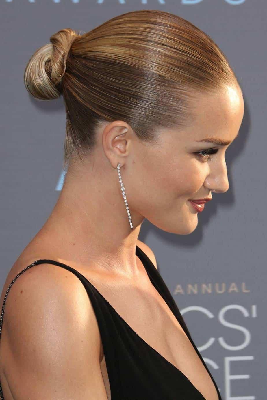 Popular and Cool Women Hairstyles 2021 Sleek Low Bun