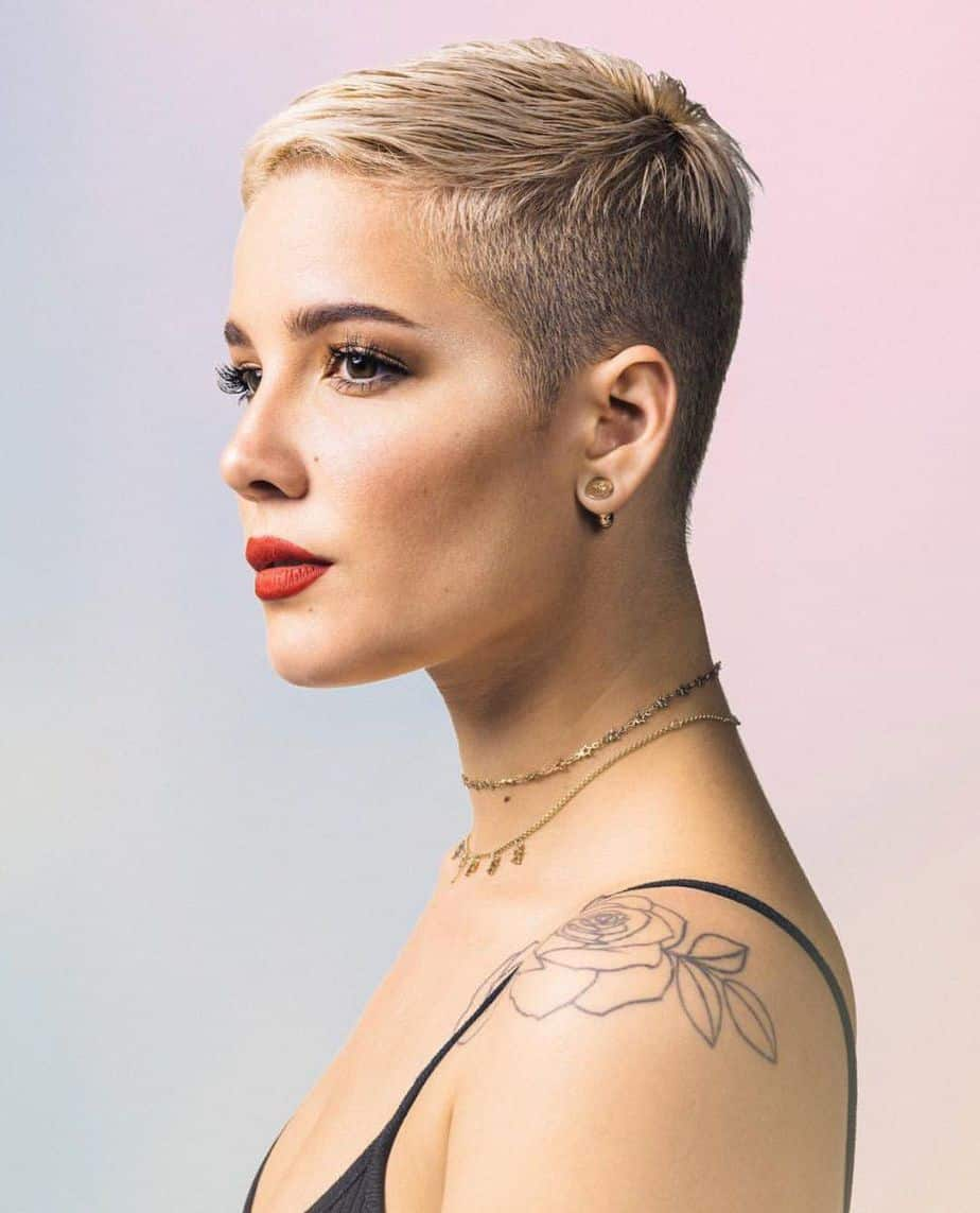 Trendy Super Short Pixie Haircuts 2021 Buzz Cut Hairstyle Halsey
