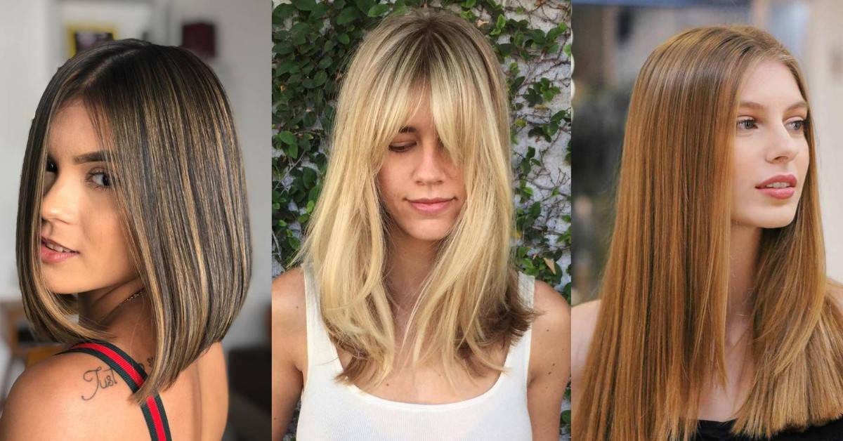 10 Super Stylish Straight Hairstyles 2021 Long Medium Short Elegant Haircuts