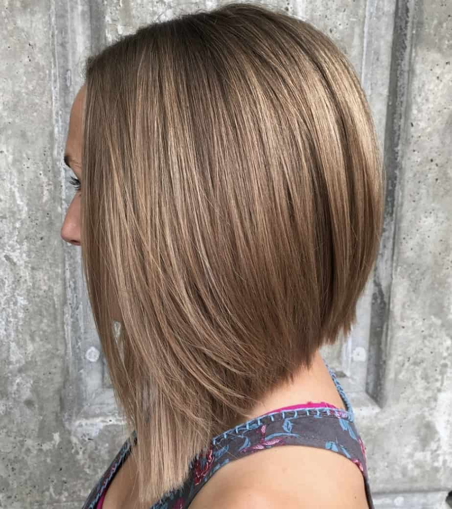 best haircuts for thin hair 2021 angled bob inverted