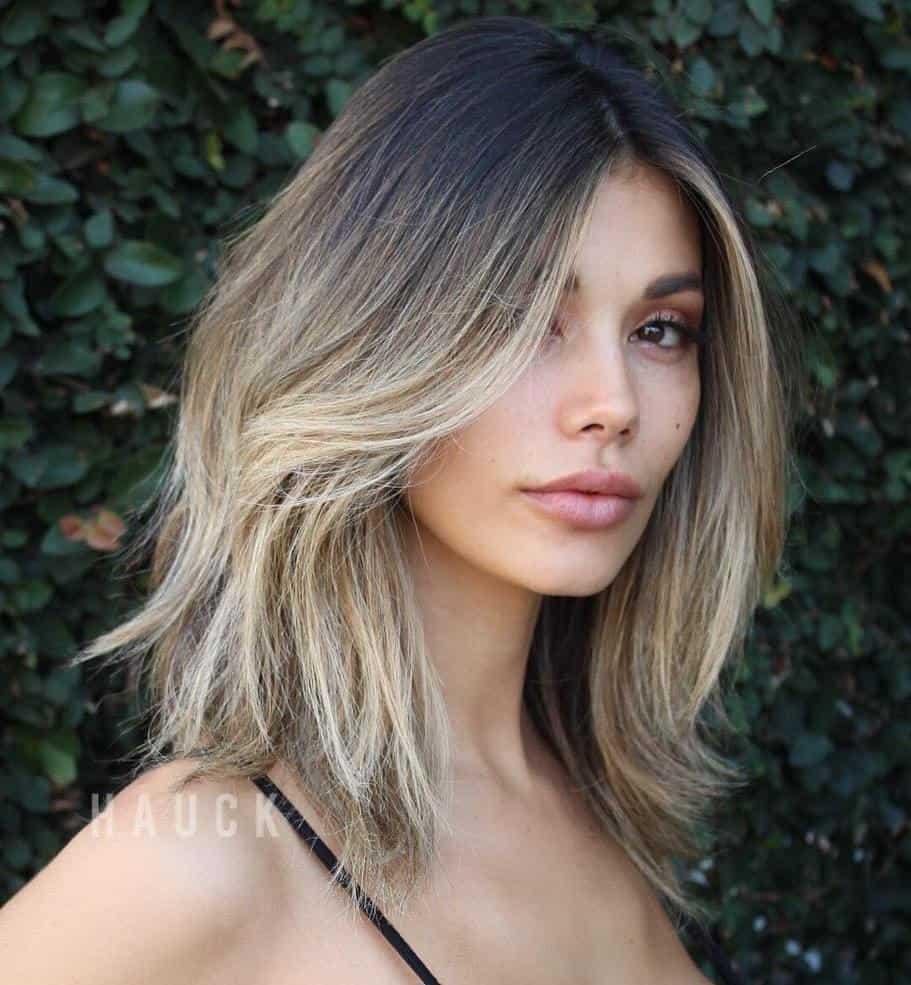 Bob Hairstyles for Thick Hair 2021 layered long bob