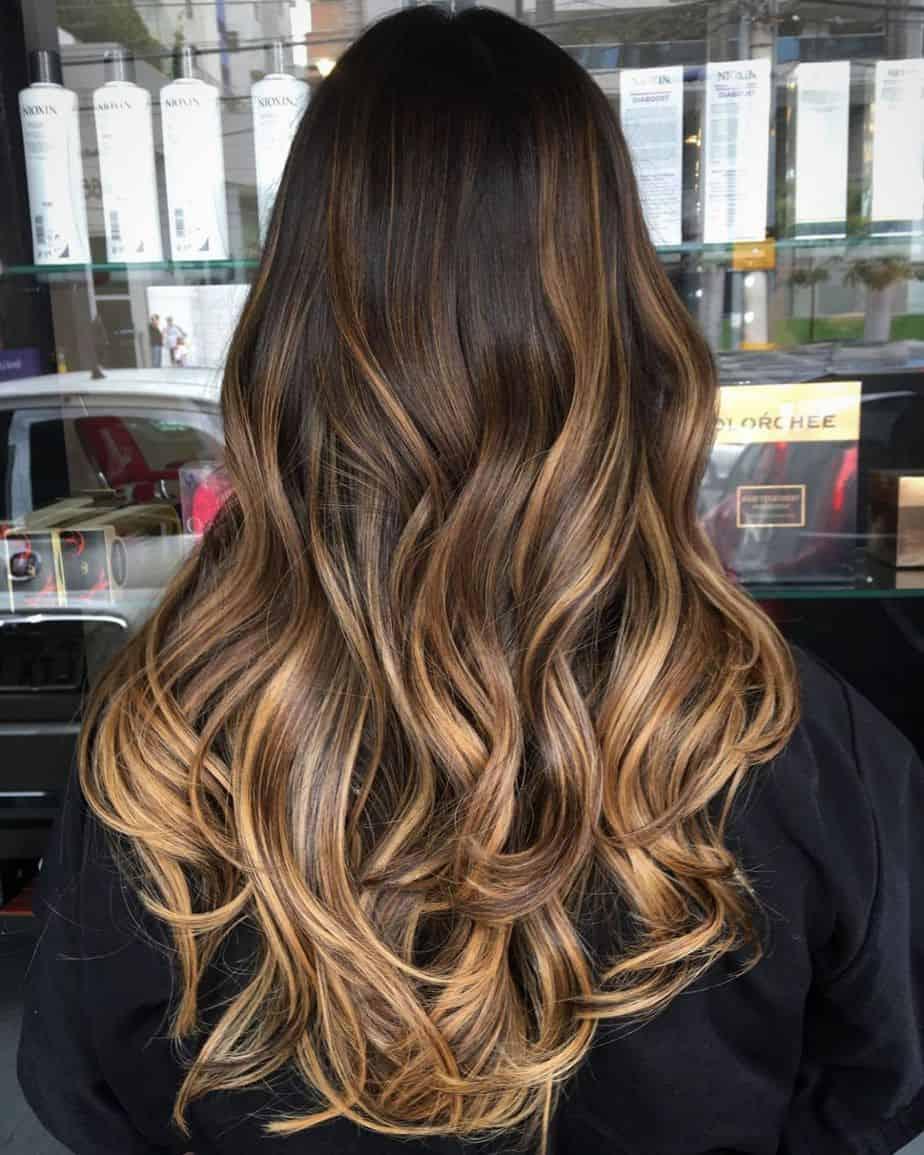 Elegant Dark Ombre Hair 2021 - Black to Warm Brown