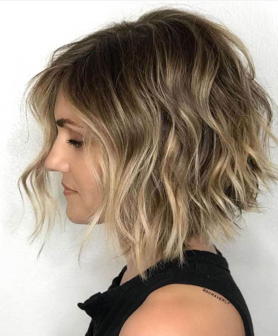 haircuts for thin hair 2021 layered shaggy bob