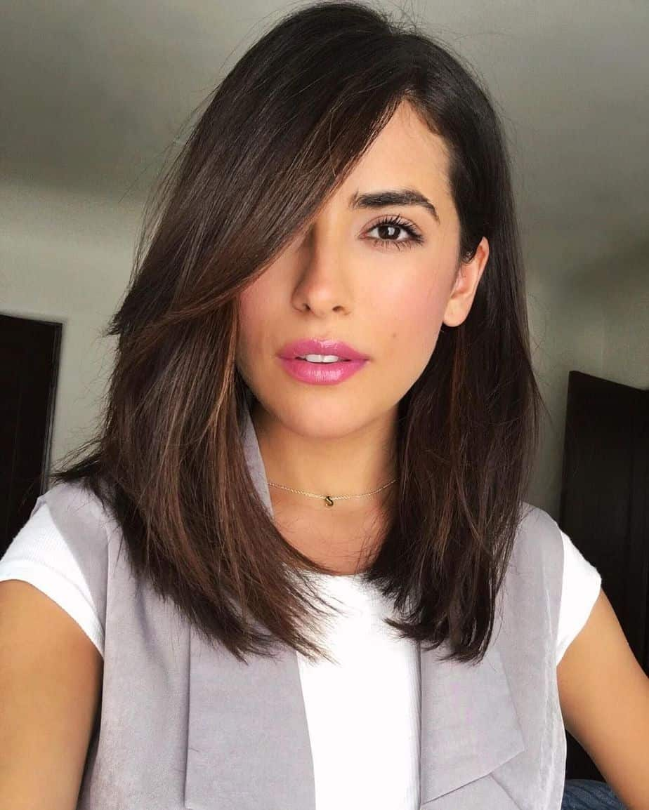 haircuts for thin hair 2021 side swept cut with long fringehaircuts for thin hair 2021 side swept cut with long fringe