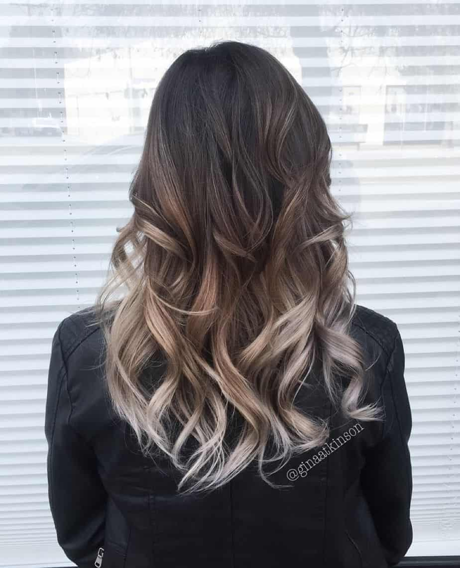 Ombre Hairstyles 2021 - Dark Brown to Ash Blonde
