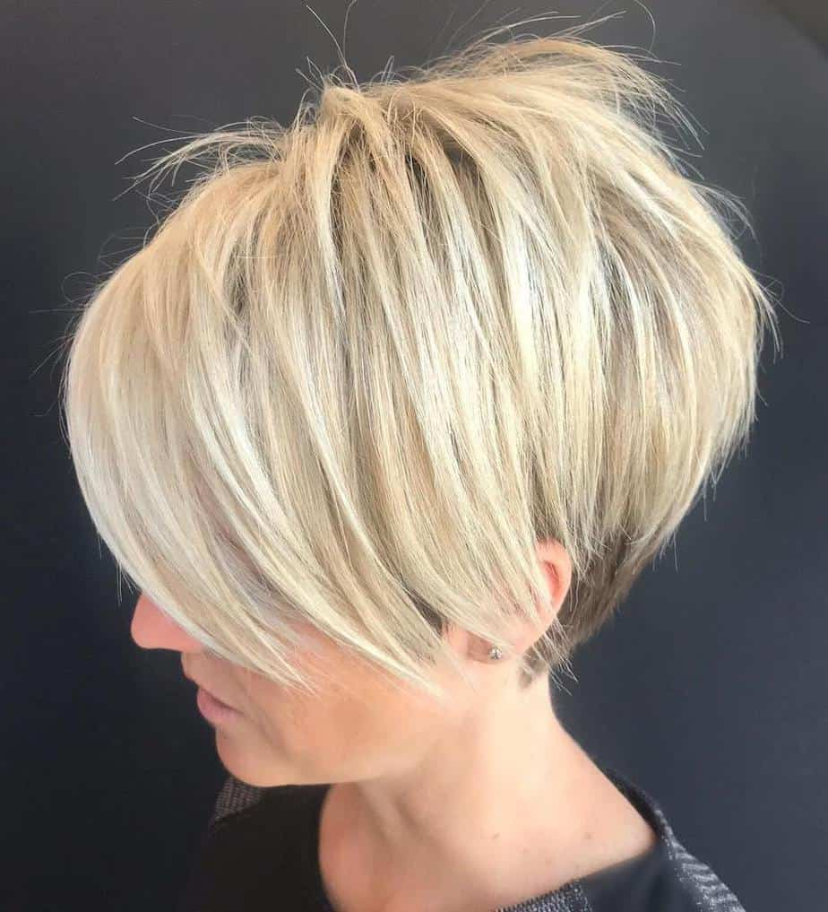 Short straight hairstyles 2021 Layered Pixie Cut