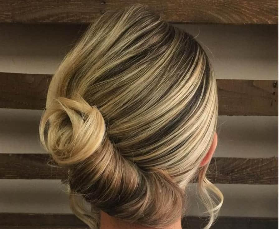 Updo Braids Hairstyles 2022 French Bun