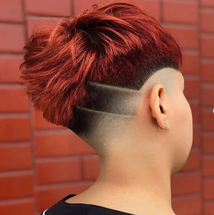 Pixie Cuts 2022 with Shaved Temples